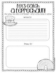 catch a leprechaun a writing craftivity a cupcake for the teacher