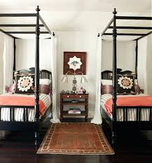 twin four poster bed frame twin beds in attic room with pitched