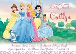 disney princess party invitations disney princess party