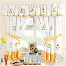 Gingham Kitchen by Kitchen W Shaped Tie Up Curtain Awesome Kitchen Curtains Yellow