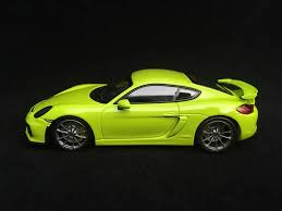 green porsche porsche cayman gt4 981 2015 light green 1 43 minichamps ca04316075