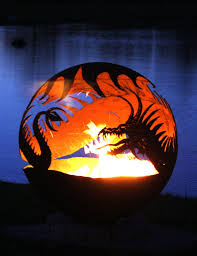 Sphere Fire Pit by Pendragon U0027s Hearth 37