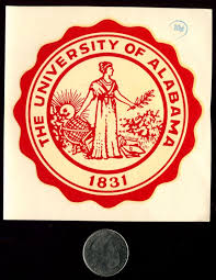 alabama alumni sticker of alabama seal vintage souvenir decal joey s world