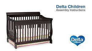 Davinci Jayden 4 In 1 Convertible Crib by Delta Children Eclipse 4 In 1 Crib Assembly Video Youtube