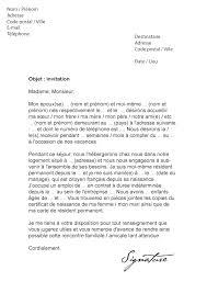 Lettre De Demande De Visa En Anglais lettre d invitation visa mod礙le de lettre
