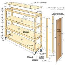 Basic Wood Shelf Plans garage shelving plans diy garage shelving plans to organize your