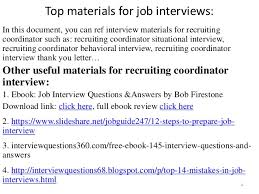 top 52 recruiting coordinator interview questions and answers pdf