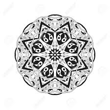 mandala floral ethnic abstract decorative elements hand drawn