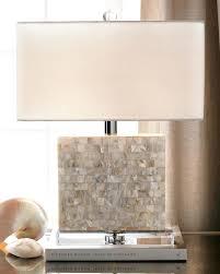 Rectangular Table Lamp Mother Of Pearl Lamp Shade Mother Of Pearl Table Lamp With