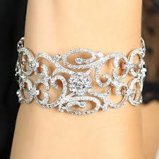 diamond bracelet cuff images Awesome flower design diamond bracelet jewellry 39 s website jpg