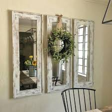 country style mirrors home decor white chalk paint mirror frames rustic home decor ideas via refresh