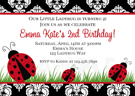 printable birthday invitations ladybug first party red ladybugs