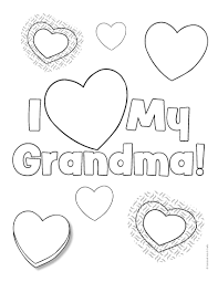 6 images of valentine u0027s day grandma coloring page happy