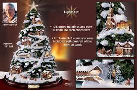 Christmas Town Decorations Redlin Village Christmas Tabletop Christmas Tree