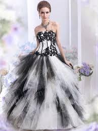 Black And White Wedding Dress Black N White Wedding Dresses Weddingcafeny Com