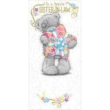 sister in law birthday me to you bear card 1 89 u2022 u2022 tatty