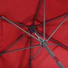 10 Ft Patio Umbrella by 10 Ft 6 Ribs Patio Umbrella With Crank Outdoor Umbrellas