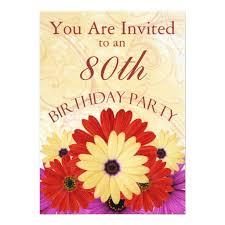 personalised 80th birthday invitations uk 28 images