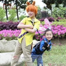 Fox Halloween Costume Kids 2016 Kids Girls Zootopia Judy Hopps Rabbit Costume Uniform