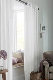 buy natural cotton eyelet lined curtains from the next uk online