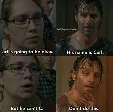 Carl Walking Dead Meme - the walking dead funny meme chandler riggs carl grimes