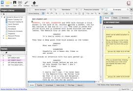 celtx free screenplay software
