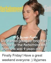 Lily Meme - james lily starred going to tring par school for the performing ar