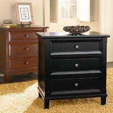 Black Wood Nightstand Furniture Grey Nightstand 3 Foot Stand