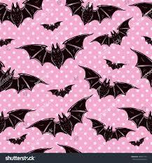 seamless halloween pattern halloween bats hand stock vector