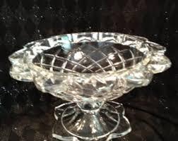 pedestal petal bowl etsy