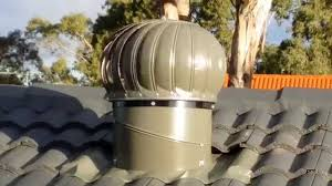 Roof Turbines Home Depot by Slate Whirlybird Vents On Roof No Wind Youtube