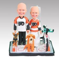 hockey cake toppers personalised and groom bicycle hockey wedding cake