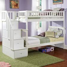 columbia twin over twin bunk bed w storage stairs dcg stores