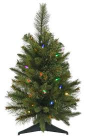 pre lit battery operated mixed pine tree multi