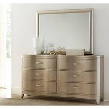 Bedroom Dresser Serendipity Bedroom Bed Dresser Mirror Chagne For Bedroom