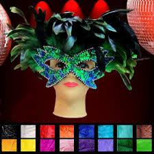 samba feather and glittery eye mask mardi gras headdress samba