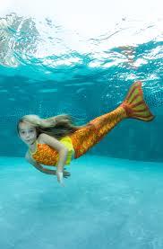 orange yellow mermaid tail for kids u0026 adults fin fun mermaid