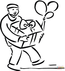 Bring Birthday Present Coloring Free Printable Coloring Pages