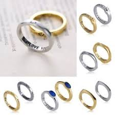 s day rings 1 pair s day letters lover friend heart rings
