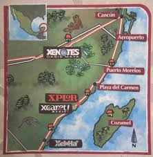Mexico Map Cancun by Playa Del Carmen Cancun Cozumel Vacation Review Attractions Maps