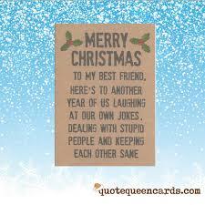 merry best friend card for friend