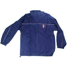 ford mustang jacket apparel windbreaker zip up blue ford mustang with tri bar logo