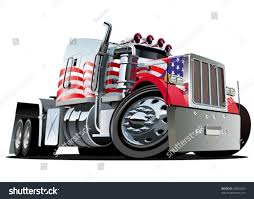 kw semi truck vector cartoon semi truck stock vector 93020203 shutterstock