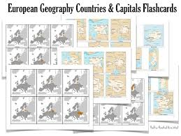 Europe Capitals Map by European Countries U0026 Capitals Flashcards Free Printable For
