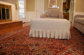 furniture cool ottoman slipcover design with arm chairs and rugs