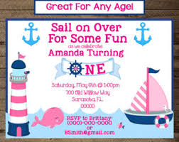 nautical invite etsy