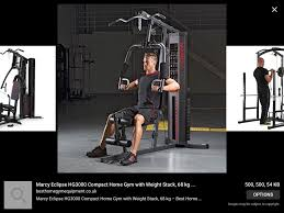 marcy eclipse hg 3000 compact home multi gym and accessories in