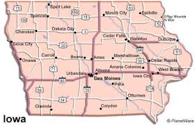 map us iowa iowa travel guide planetware