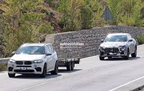 maserati bmw spyshots 2018 maserati levante gts with v8 power tests against