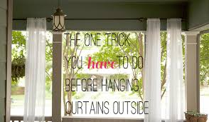 Patio Curtains Outdoor Put A Weight In The Bottom Of Your Outdoor Curtains To Keep From